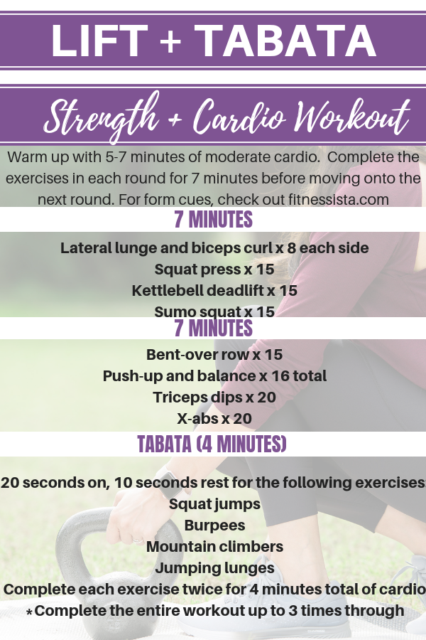 Lift and tabata workout