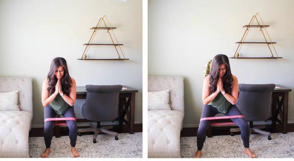 Side to side squat walks