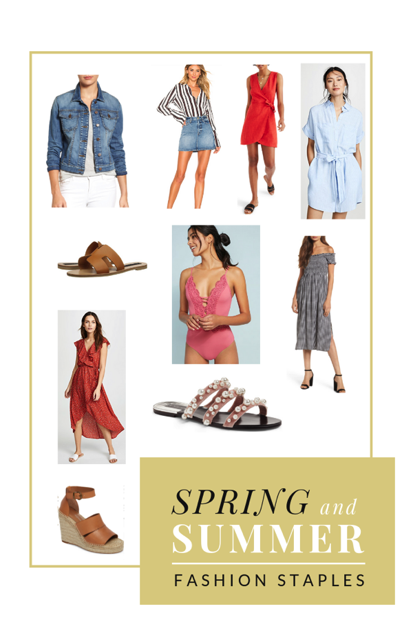 Spring and summer fashion staples