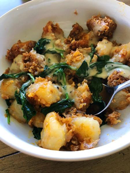 Gnocchi meal