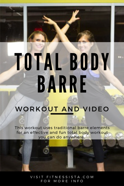Barre workout and video