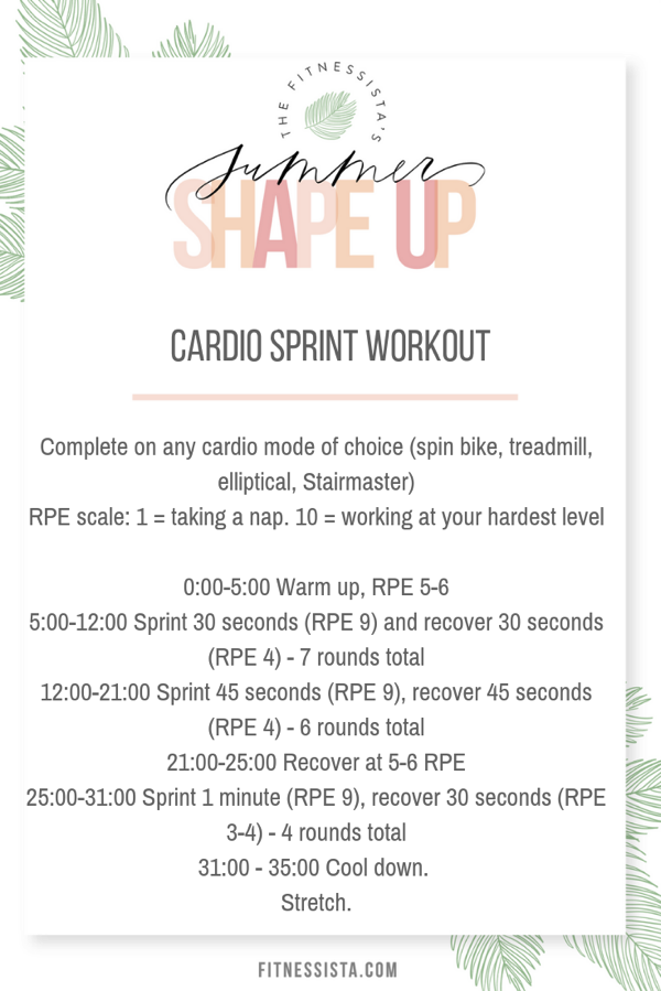 Cardio sprint workout