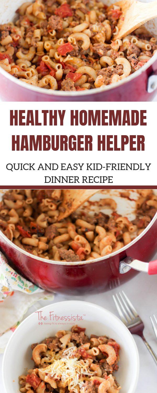 Healthy Homemade Hamburger Helper