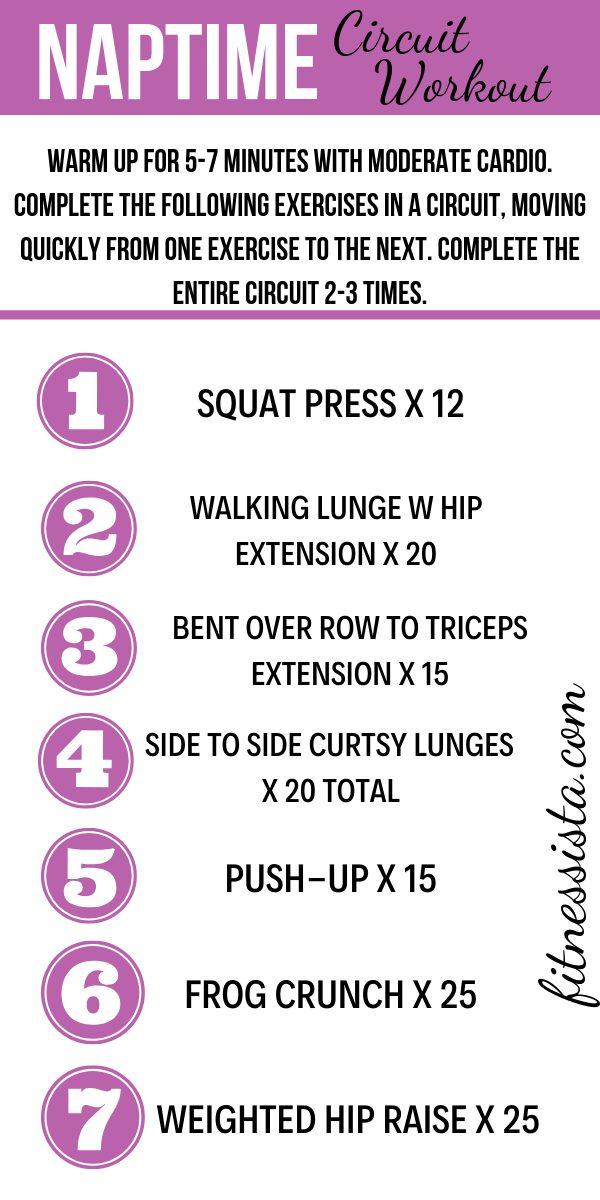 Naptime circuit workout
