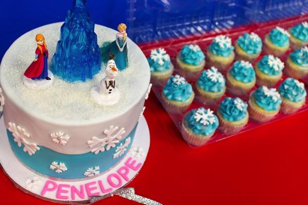 Frozen theme cake for birthday party