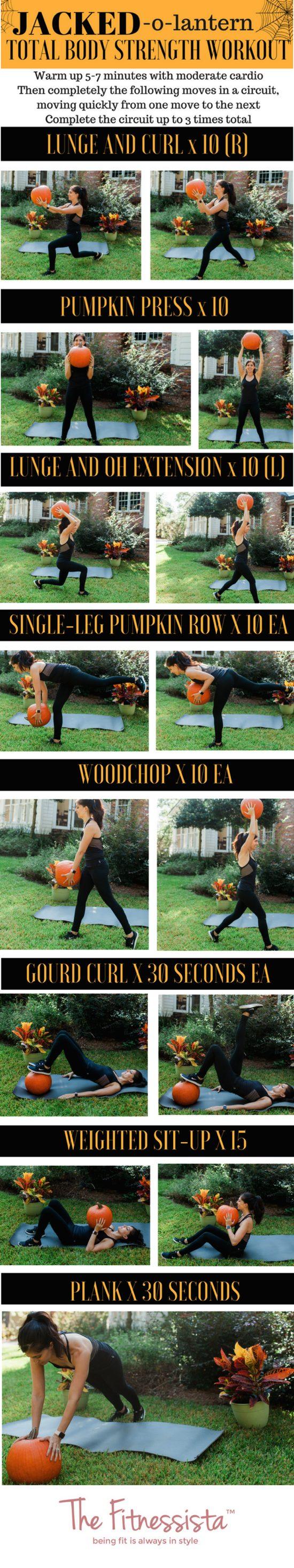 Jacked o lantern total body strength workout using a pumpkin