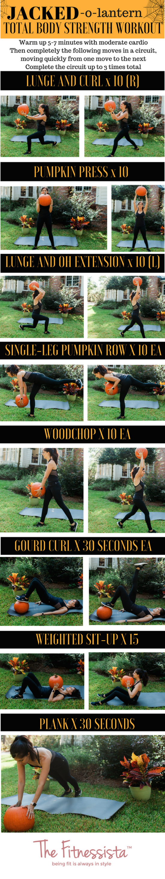Jacked o lantern total body strength workout using a pumpkin