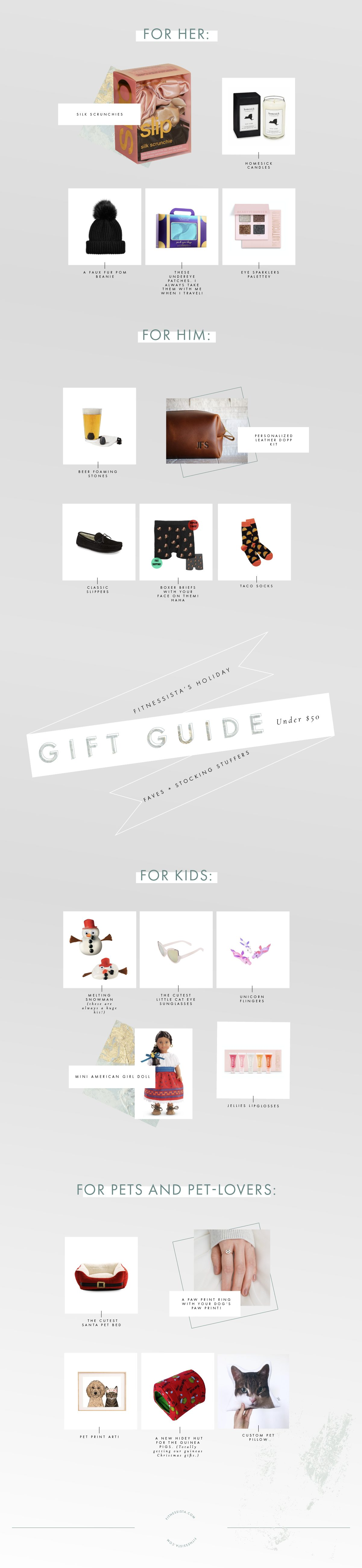 Under 50 gift ideas and stocking stuffers