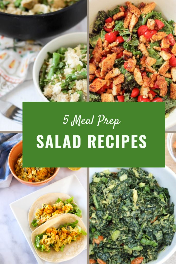 5 healthy meal prep salad recipes. Quick and easy lunch options (plus some vegan ideas!) fitnessista.com