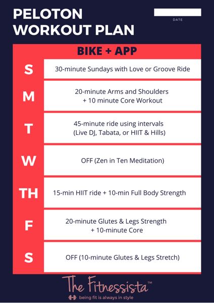 Peloton bike and app