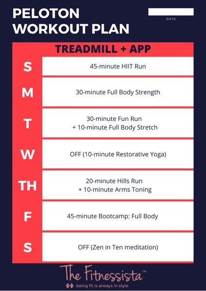 Peloton treadmill and app
