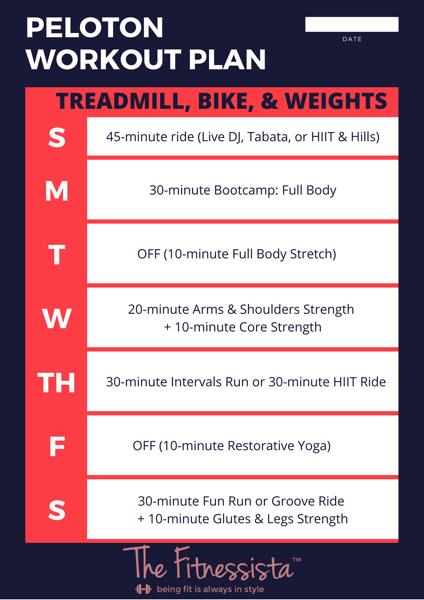 Peloton workout plan
