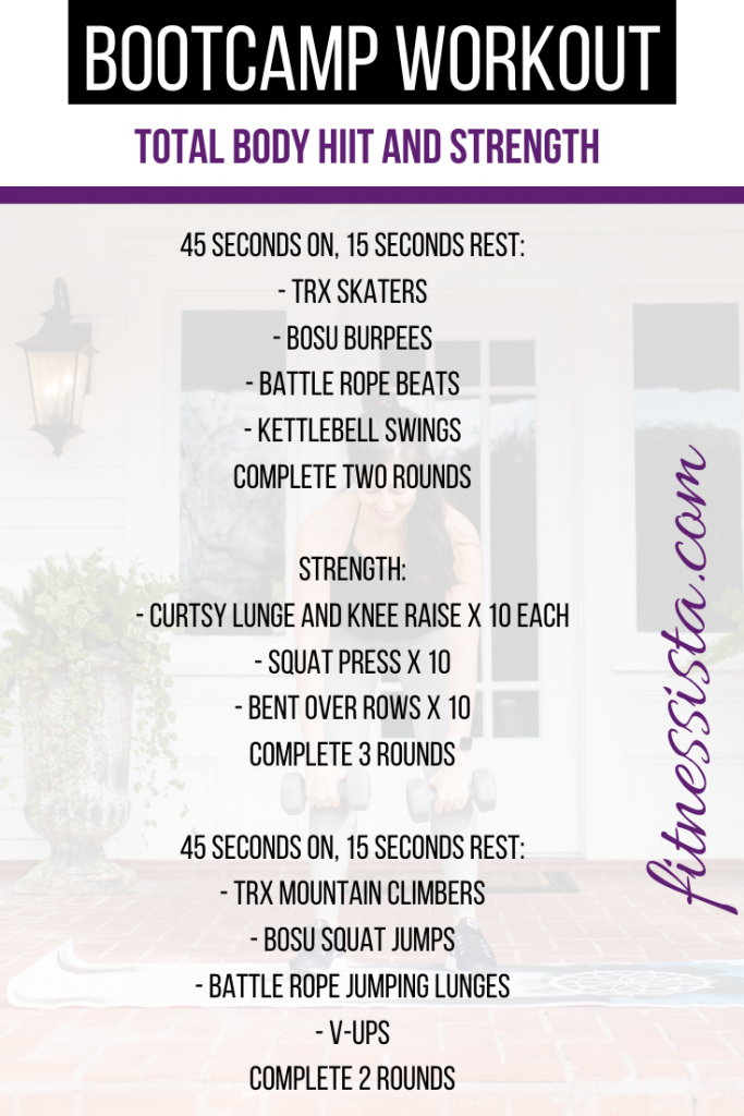 total body bootcamp workout
