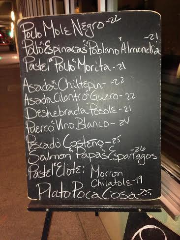 Poca menu
