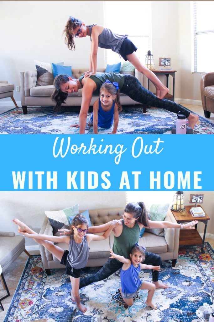 Sharing tips for working out with kids at home, plus workout videos and plan ideas. fitnessista.com