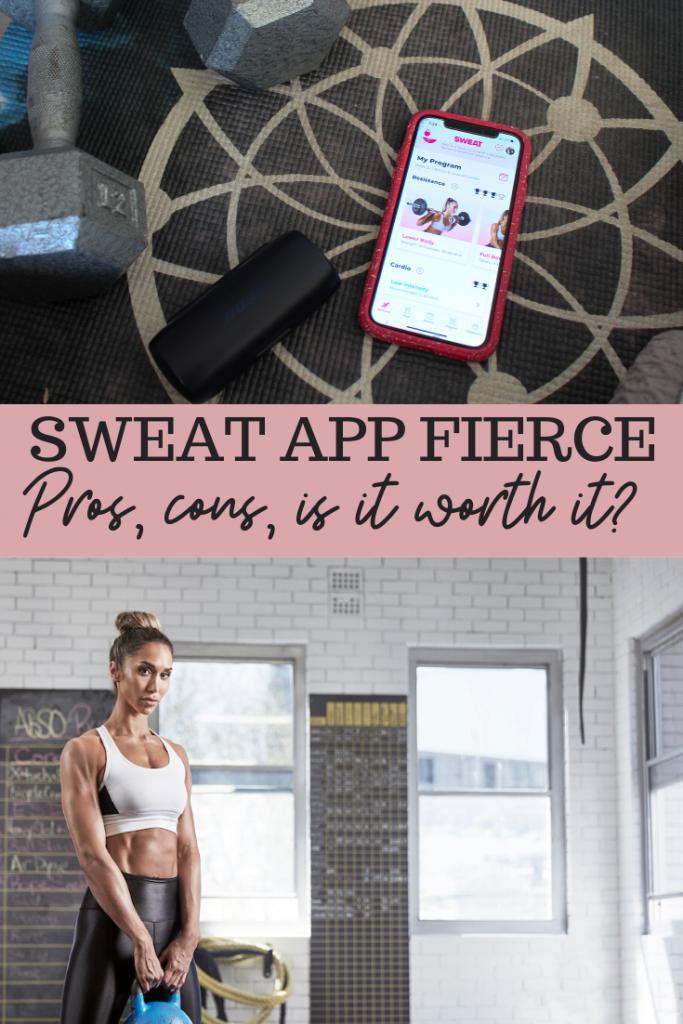 Sweat app Fierce program review. fitnessista.com