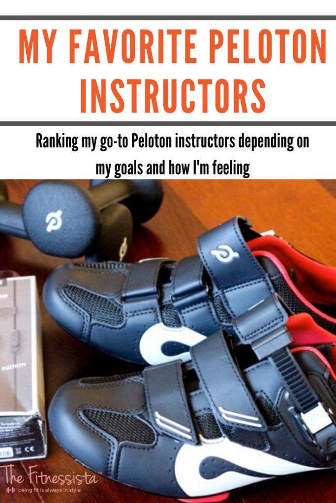 Sharing my favorite Peloton instructors depending on how I'm feeling. fitnessista.com