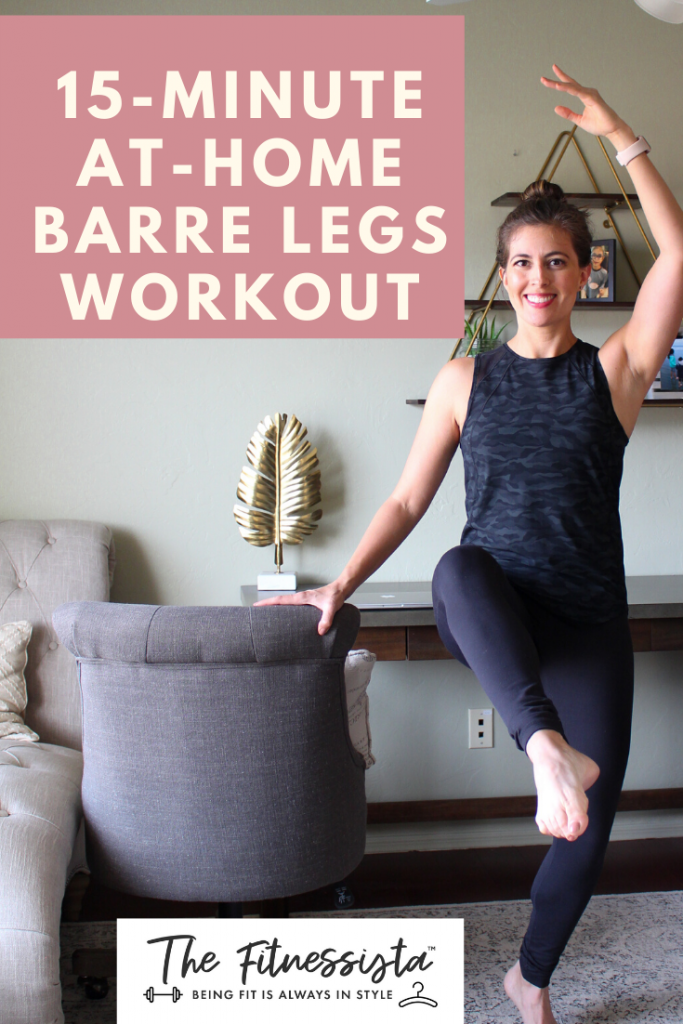 15 minute at home barre workout with full video. You can do this at home for a great barre workout!