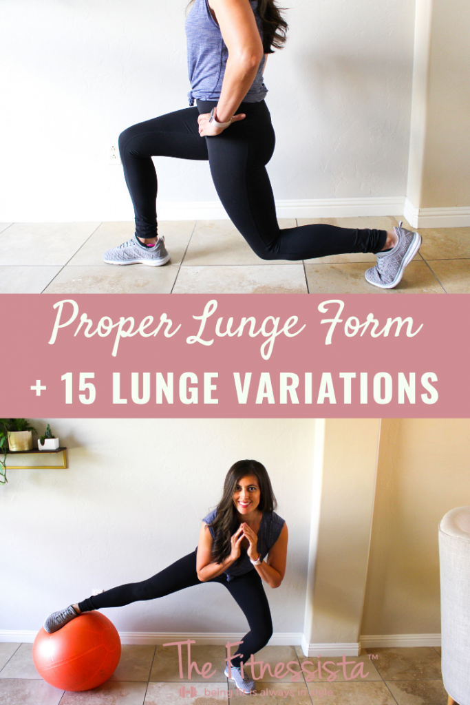 Proper lunge form and how to prevent knee pain when you lunge. fitnessista.com