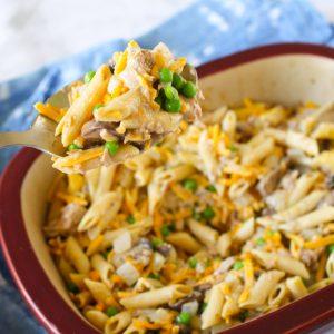 healthy tuna casserole! gluten-free and dairy-free