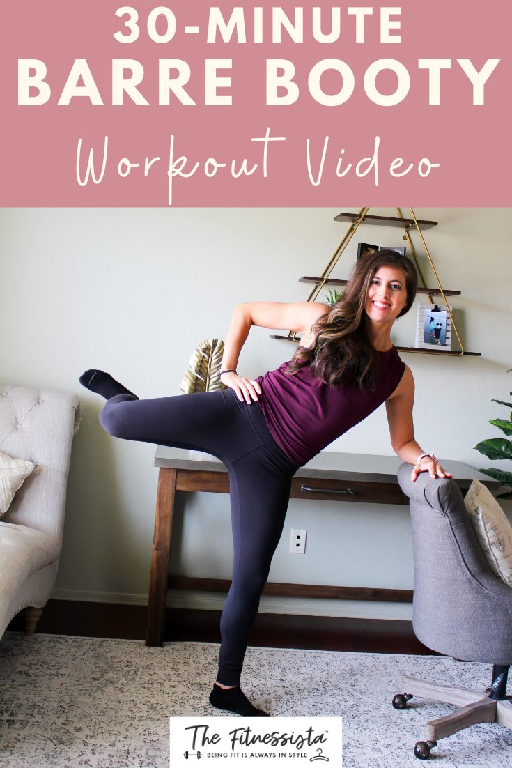 Barre booty workout you can do at home in 30 minutes. fitnessista.com