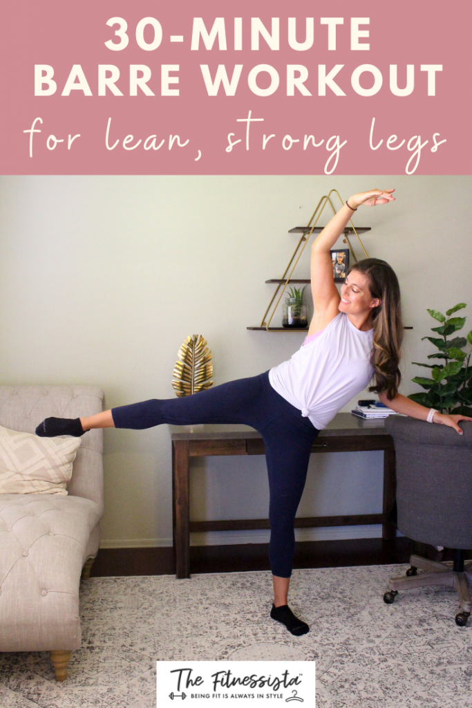 Sharing a barre video workout you can do at home, featuring some of my very favorite exercises for lean, strong legs. All you need is something sturdy to hold onto for balance, like a chair or countertop.