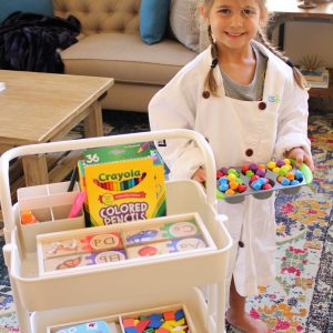 home preschool learning ideas and learning cart. fitnessista.com