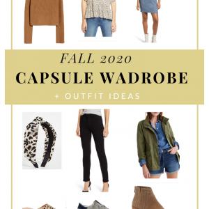 fall 2020 capsule wardrobe. fitnessista.com