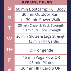 Sample Peloton workout plan