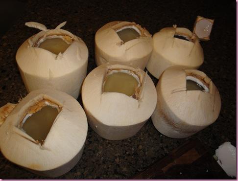 cut coconuts
