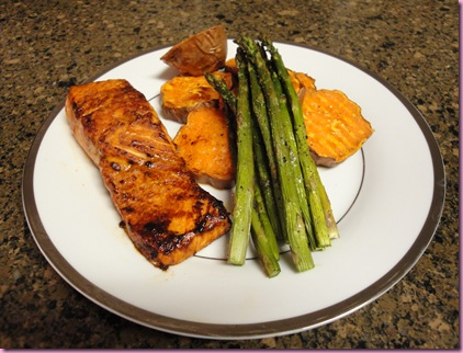 salmon and veg