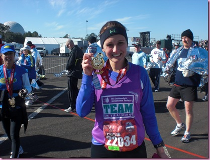 Caitlin after her first marathon
