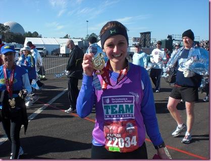 Caitlin after her first marathon