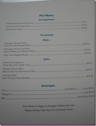 pet menu