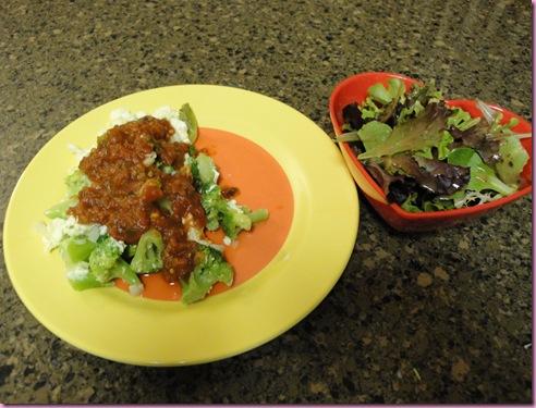 egg and salad