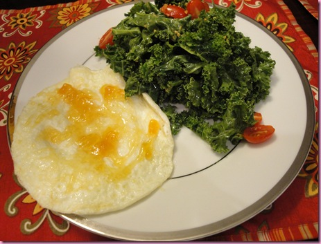 egg and kale