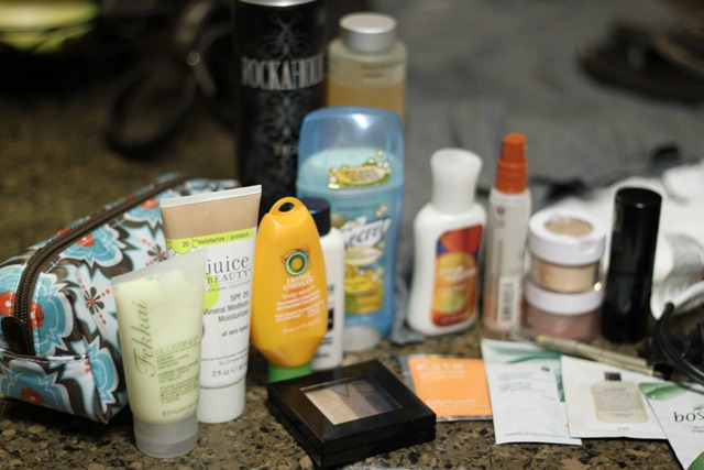 hotel toiletries, travel light, essentials