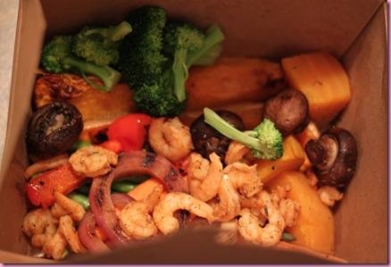 veggies and shrimp