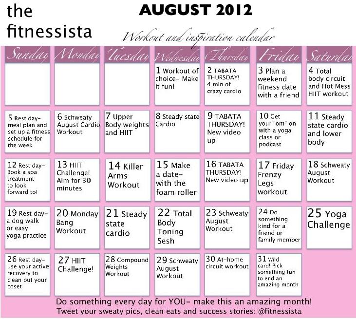 Workout Calendar For Women : Daily workout calendar new template site