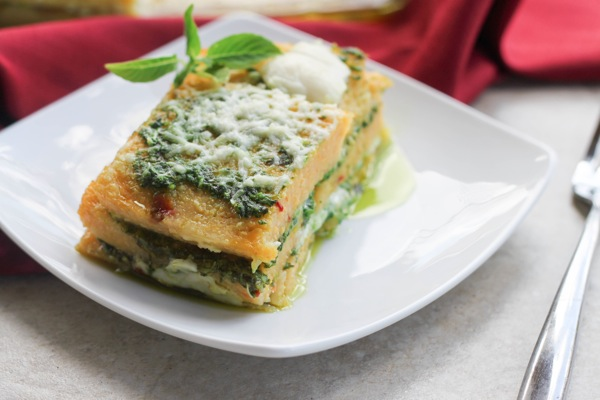 lasagna polenta lasagna with butternut squash and spinach recipes ...