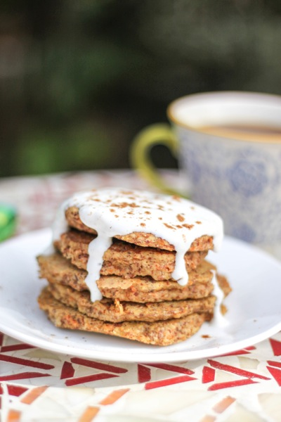 Carrot cake protein pancakes - The Fitnessista