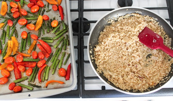 Roasted Spring Vegetable Herbed Risotto Recipe — Dishmaps