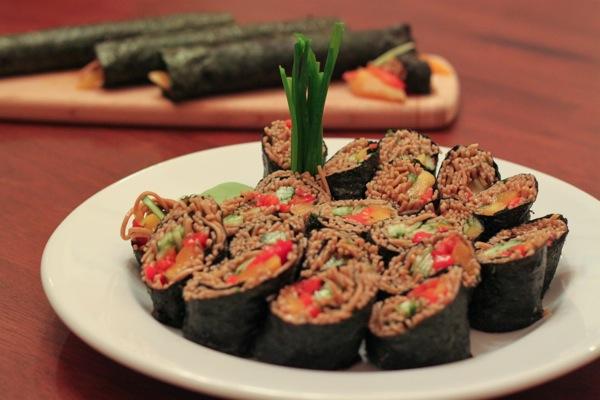 sauce soba noodle sushi rolls soba sushi 1 soba noodle sushi rolls