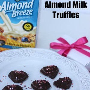 Dark Chocolate Almond Milk Truffles for Valentine's Day