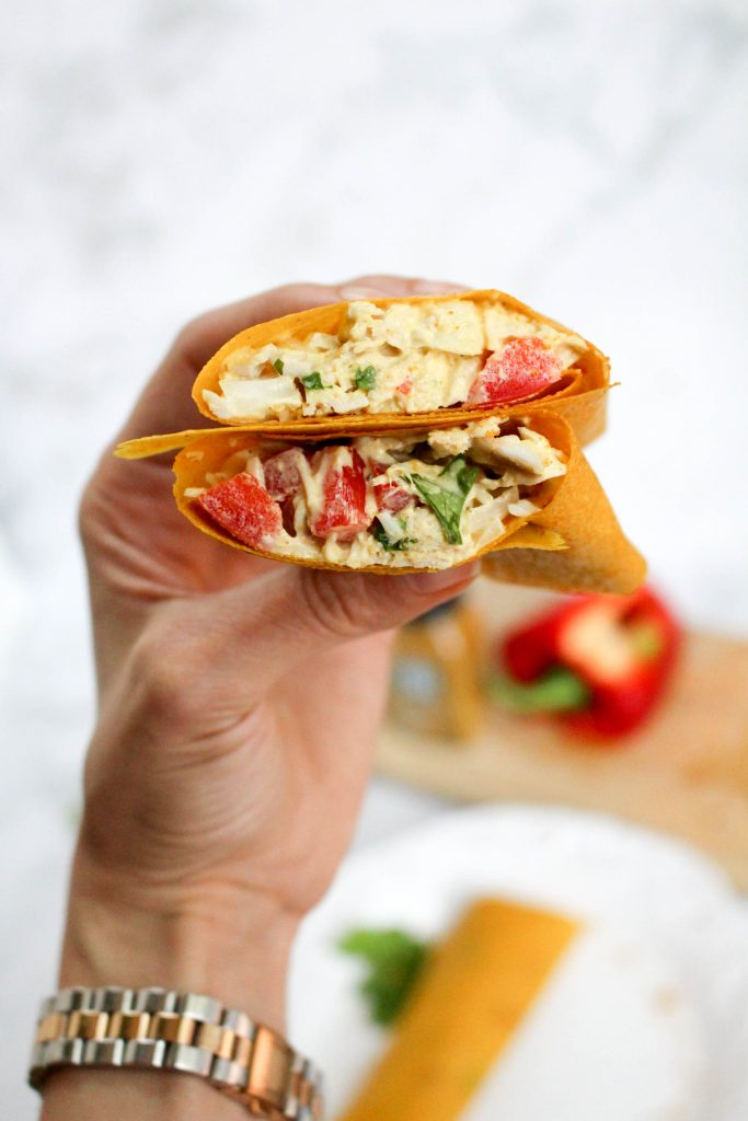 Easy, healthy curry chicken salad turmeric wraps (Paleo ...