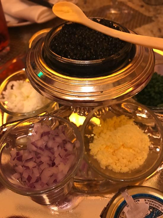 Caviar bar