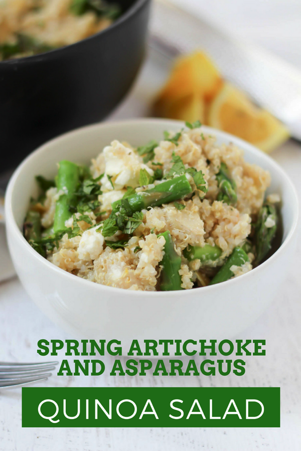 Spring Quinoa Salad with Artichokes, Feta, and Asparagus ...